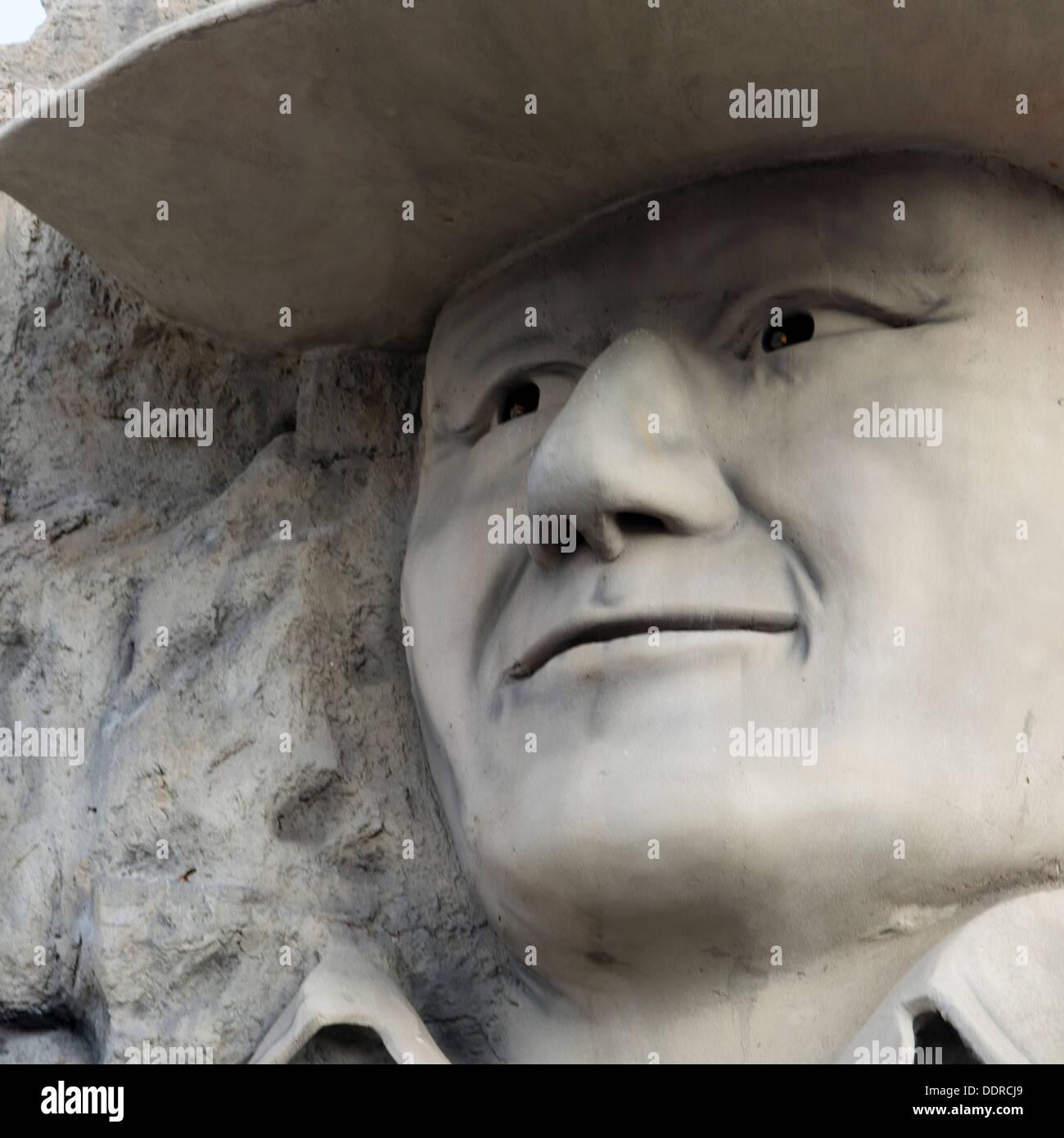 John Wayne sculpture at Hollywood Wax Museum, Branson, Taney County, Missouri, USA - Stock Image
