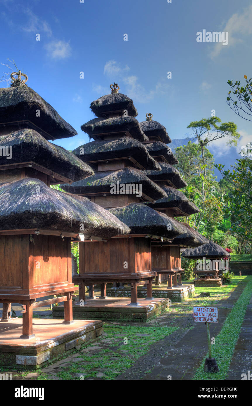 Indonesia, Bali, the directional temple of Pura Luhur Batukaru on the slopes of the Batukaru Volcano - Stock Image
