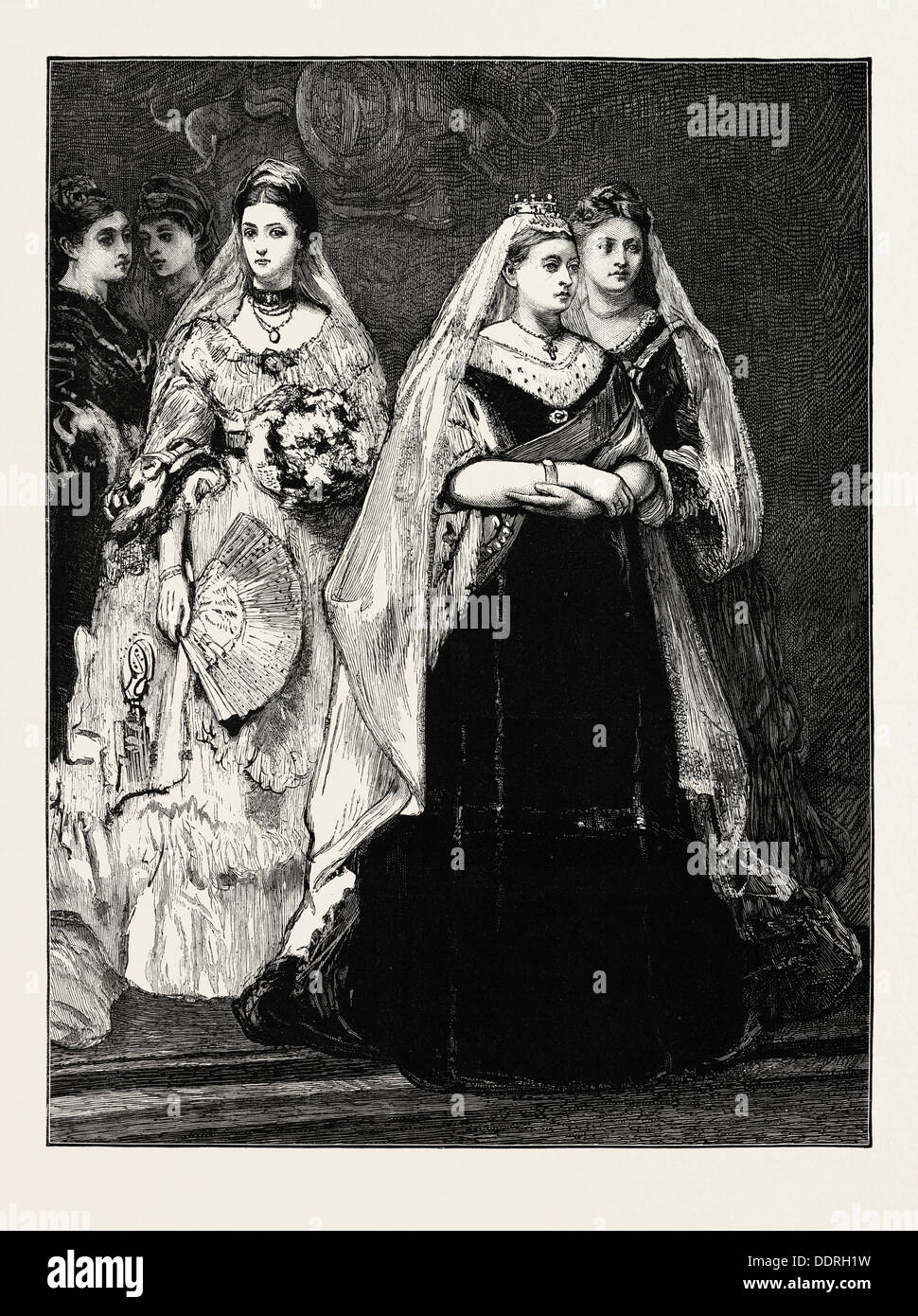 ENGLAND, QUEEN VICTORIA, UK, 1873 engraving - Stock Image