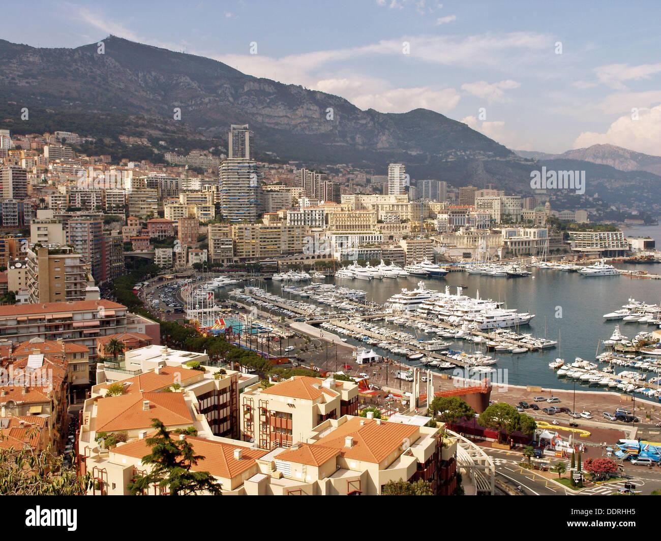 La Condamine y Port Hercule, Mónaco. - Stock Image