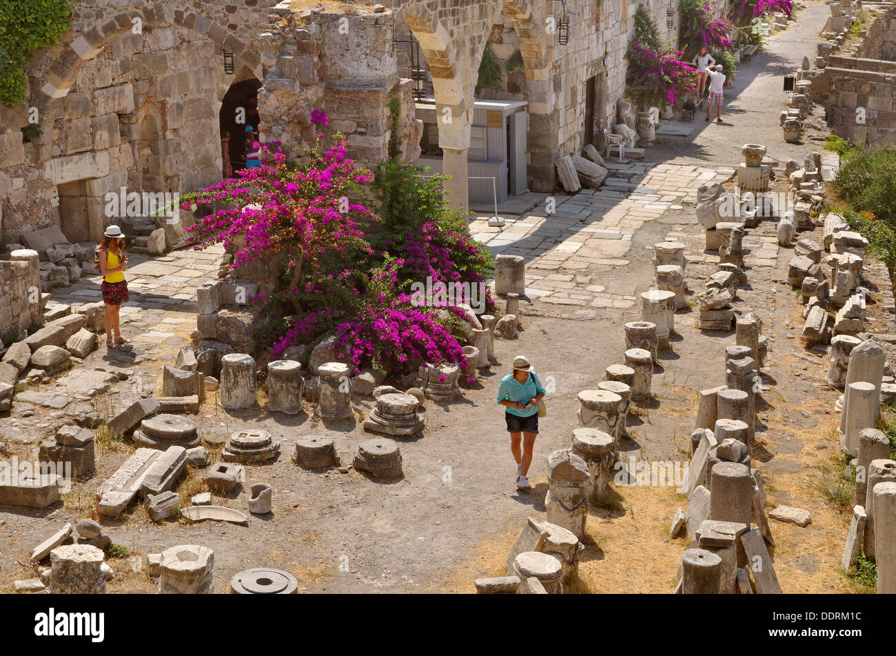 Interior of the Kos City Fortress, Kos Island, Dodecanese Island group, Greece. - Stock Image