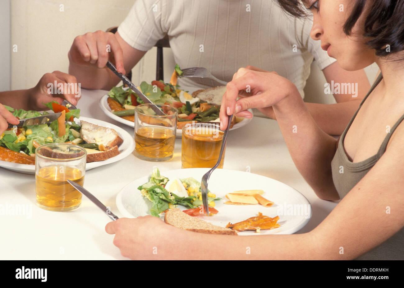 teenage girl with eating disorder - Stock Image