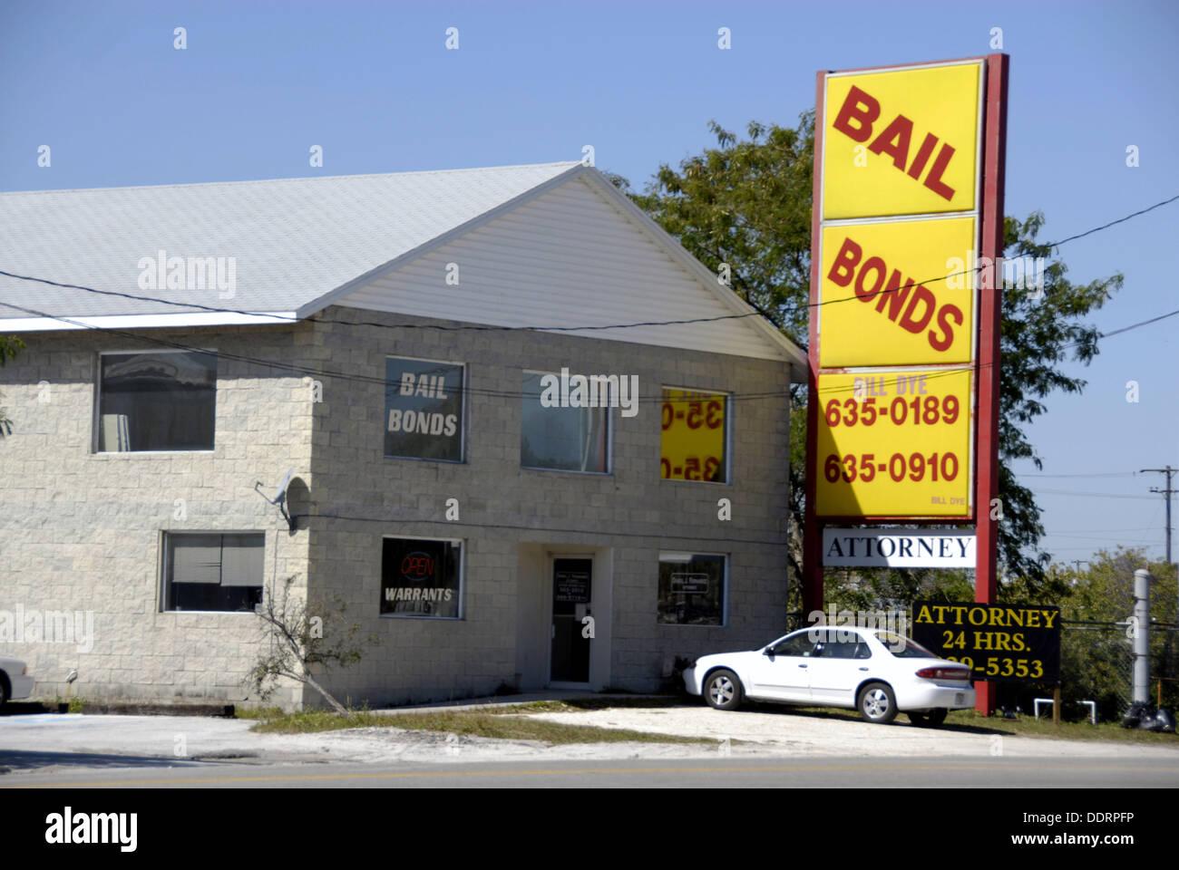 Bail Bonds establishments - Stock Image