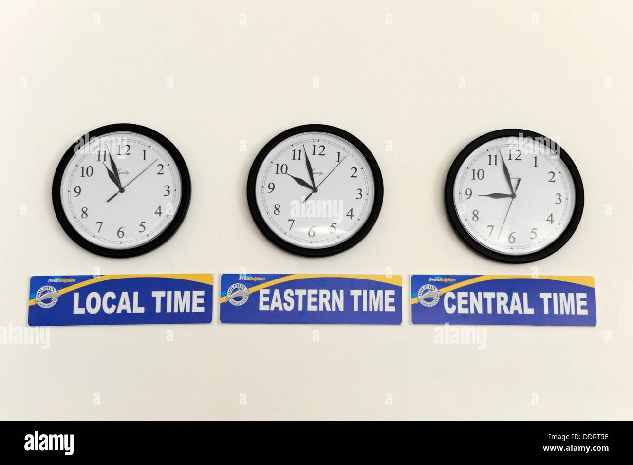 Different Time Zone Clocks Stock Photos Different Time Zone Clocks