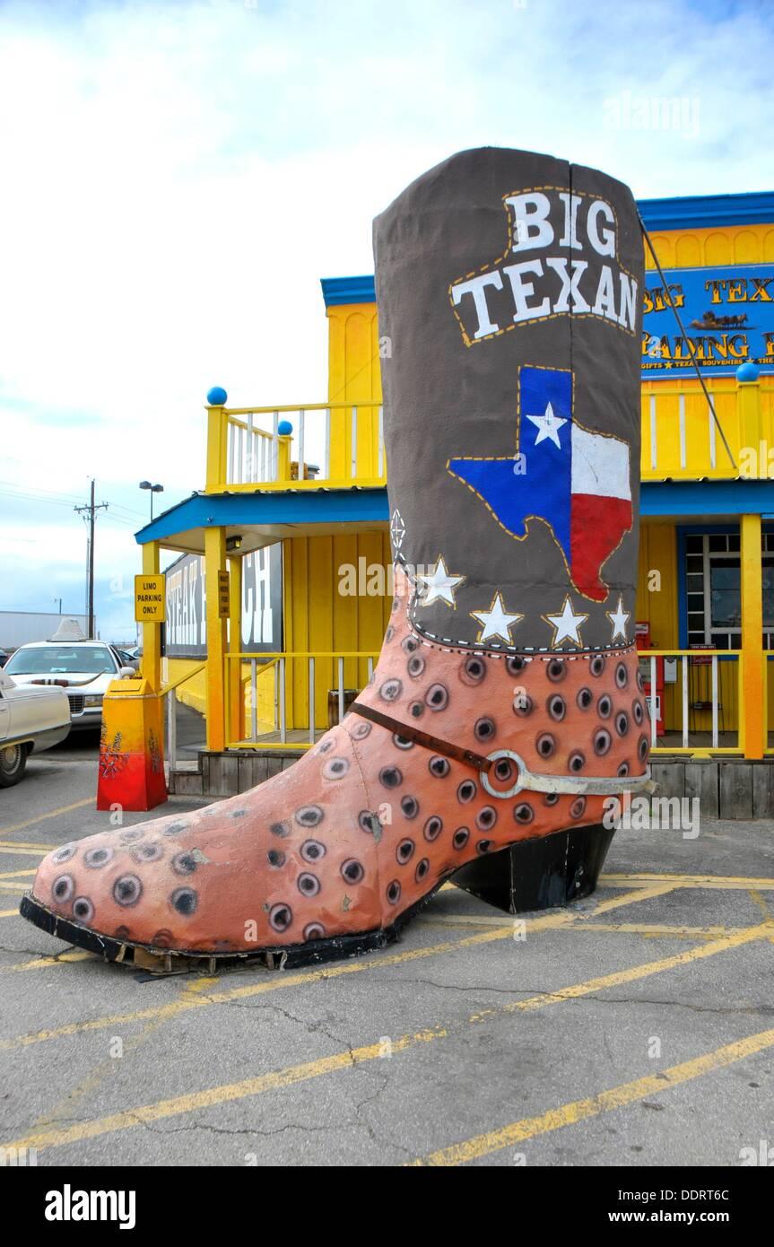 Big Texan Steak Ranch Amarillo Texas Route 66 - Stock Image