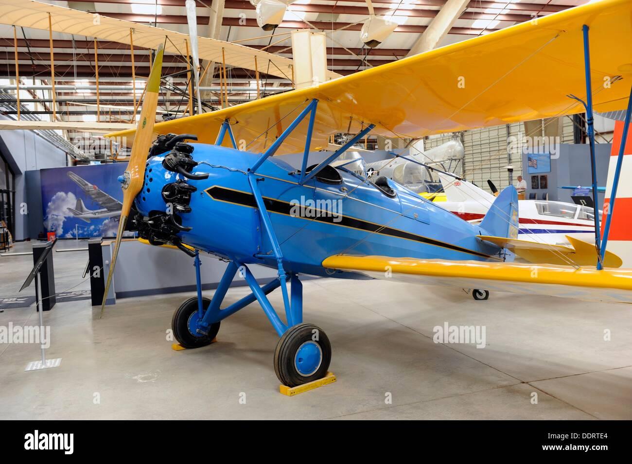 Waco RNF Civil Biplane at Pima Air and Space Museum Tucson Arizona - Stock Image
