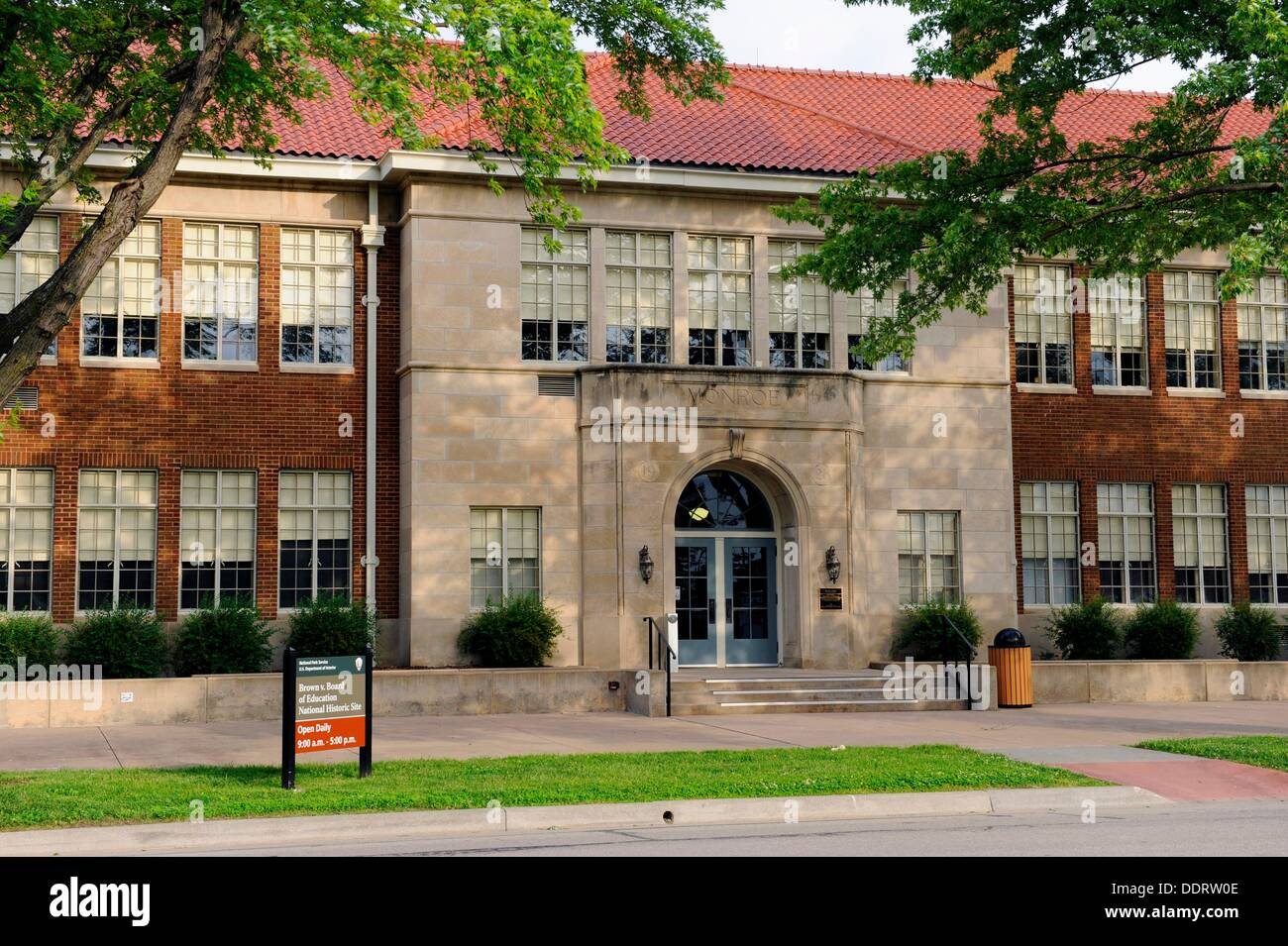 Monroe School Brown vs Board of Education Topeka Kansas - Stock Image
