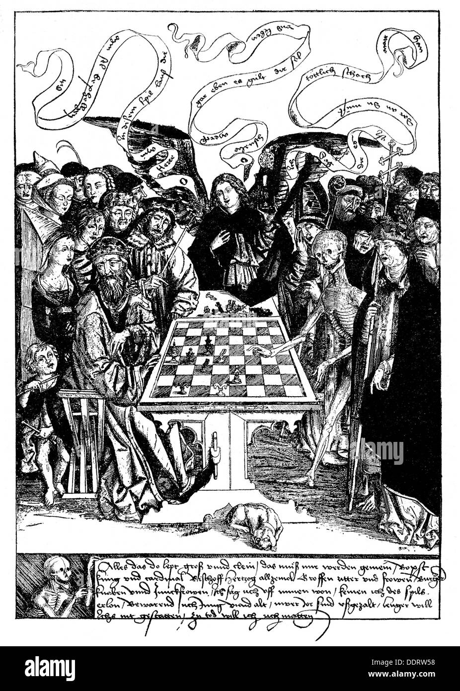 Bb Augsburg allegories the king chess with the copper engraving