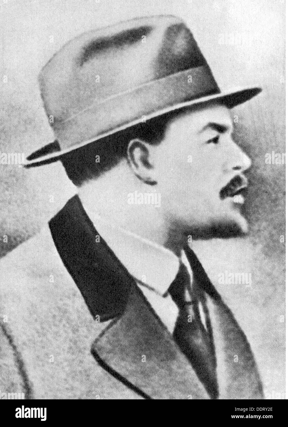 Lenin (Vladimir Ilyich Ulyanov), 22.4.1870 - 21.1.1924, Russian politician, portrait, 1910s, from: 'Neues Leben', number 10, Berlin, 1969, Additional-Rights-Clearances-NA - Stock Image