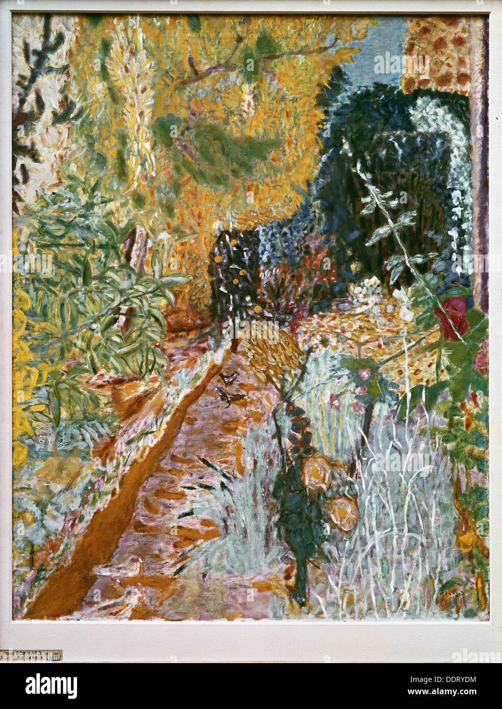 ´Le Jardin´, painting by Pierre Bonnard - Stock Image