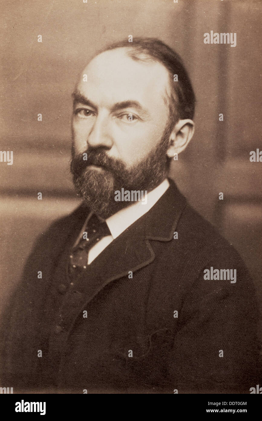 Thomas Hardy, English novelist and poet, late 19th century. Artist: Unknown - Stock Image