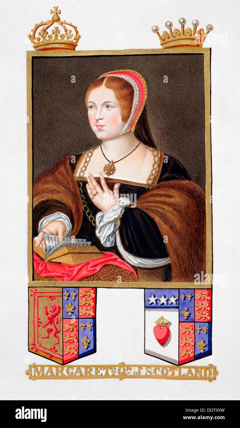 Margaret Tudor, Queen of Scotland, (1825). Artist: Sarah, Countess of Essex - Stock Image