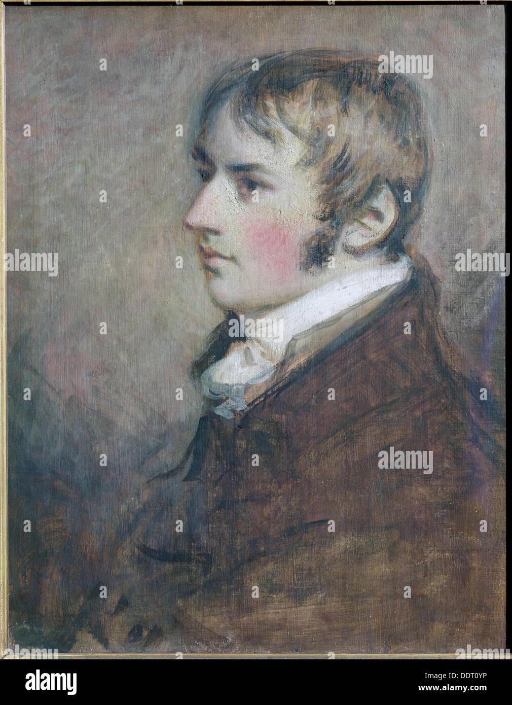 John Constable, English landscape painter, 1796. Artist: Daniel Gardner Stock Photo