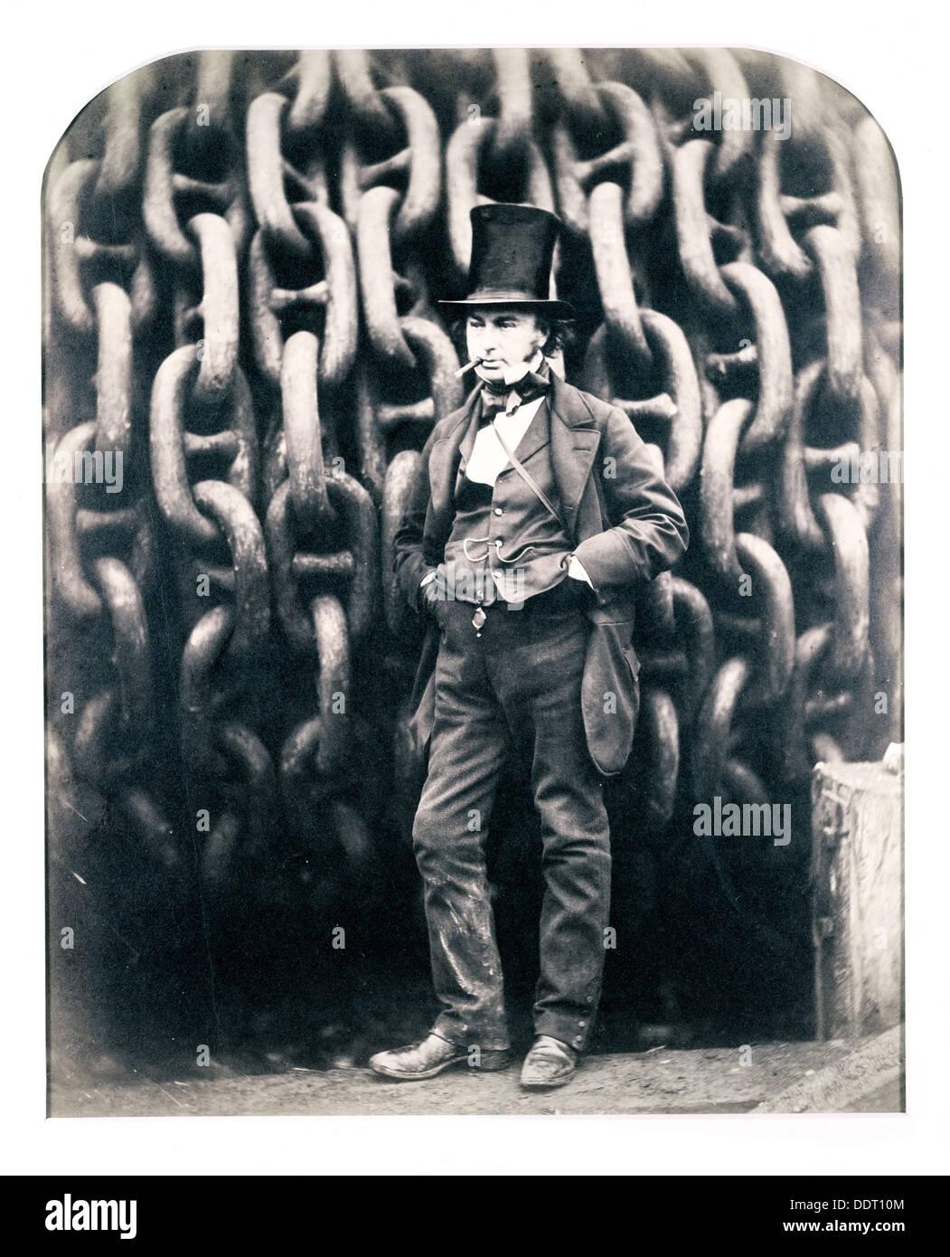 Isambard Kingdom Brunel, British engineer, 1857. Artist: Robert Howlett - Stock Image