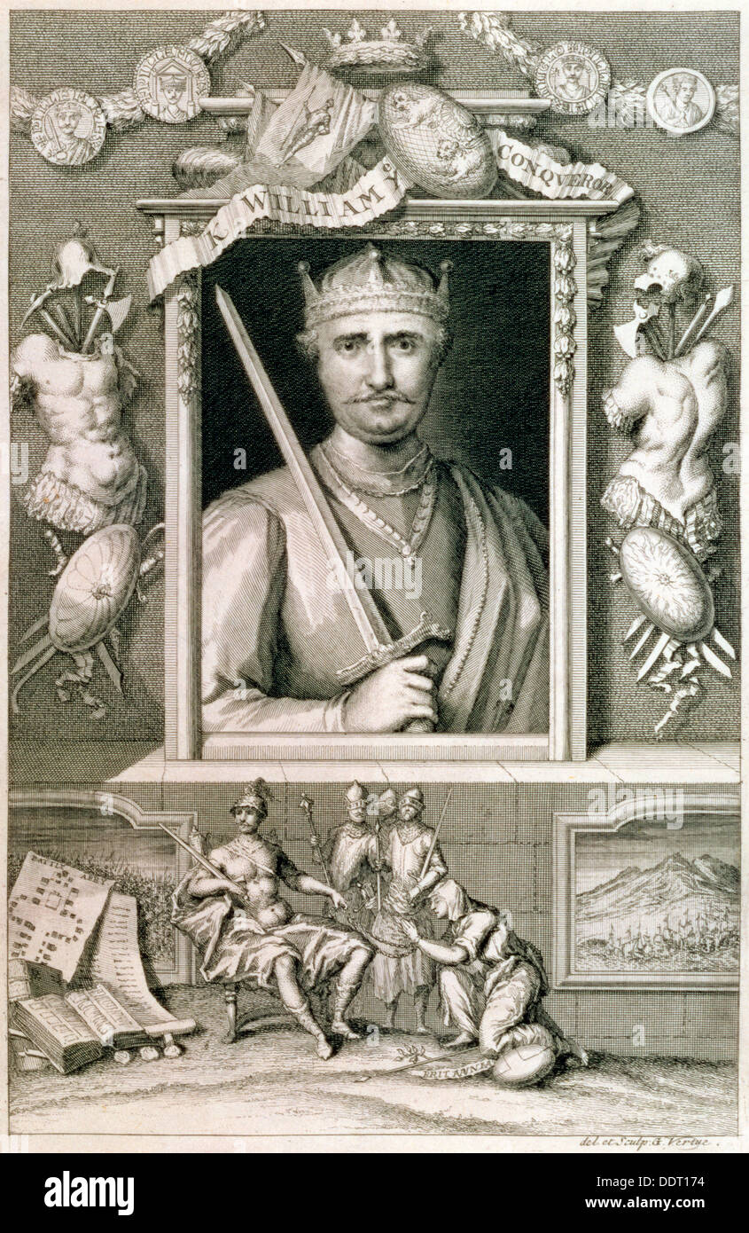 William the Conqueror, 11th century Duke of Normandy and King of England, (18th century). Artist: George Vertue - Stock Image