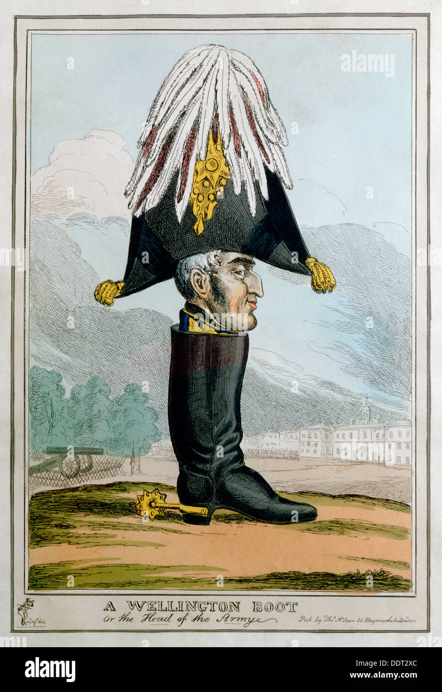 'A Wellington Boot- or the Head of the Armye', 19th century. Artist: Unknown - Stock Image