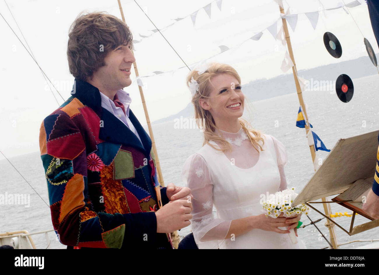 PIRATE RADIO  2009 Focus Featrures film with January Jones and Chris O'Dowd - Stock Image