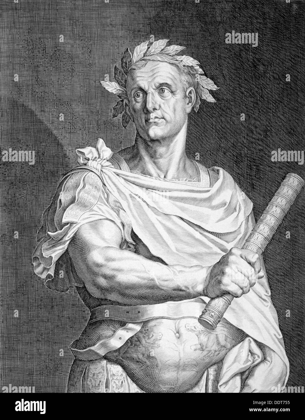 Julius Caesar, Roman soldier and statesman, (c1590-1629). Artist: Aegidius Sadeler II - Stock Image