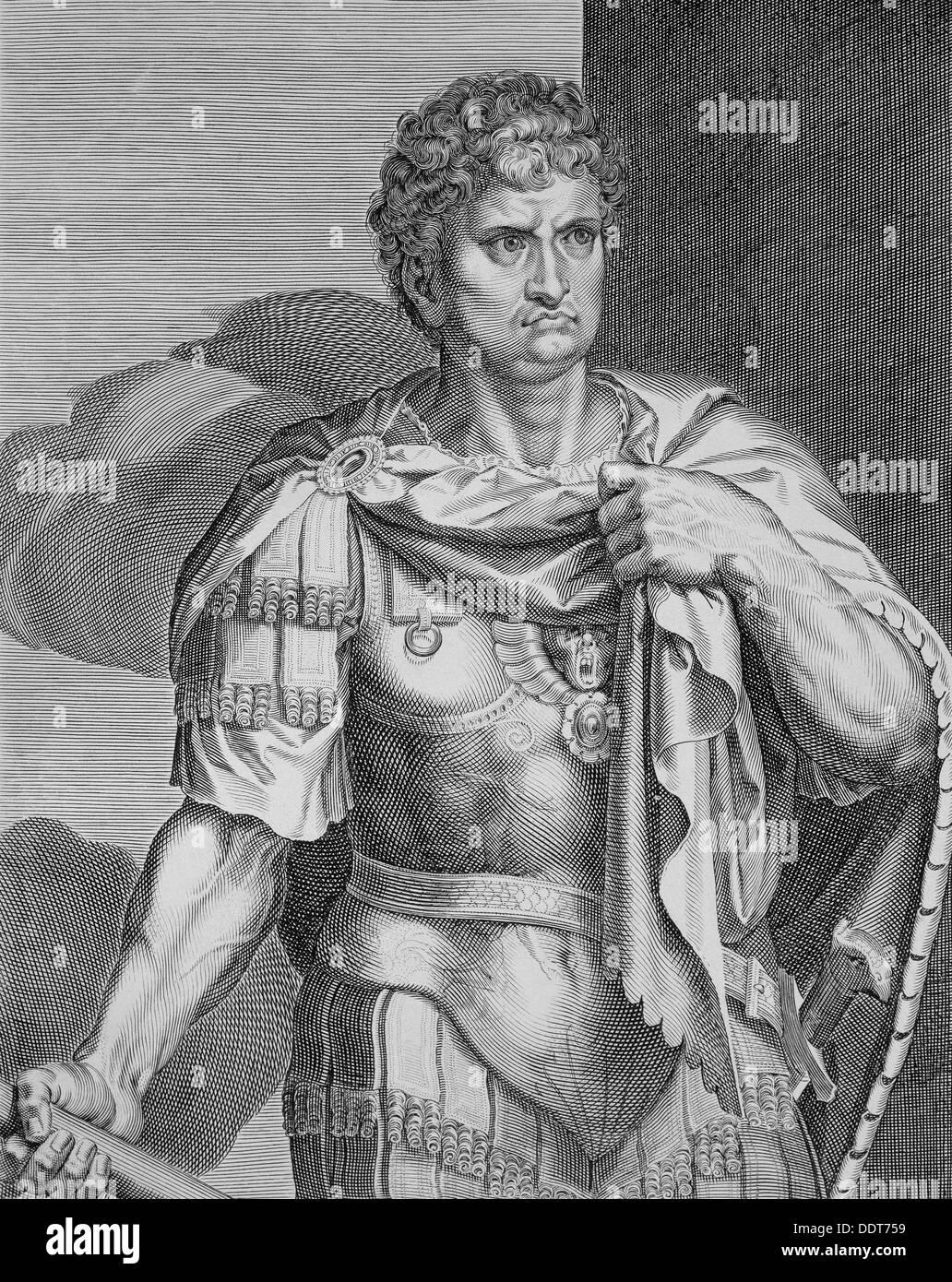 Nero, Roman Emperor, (c1590-1629). Artist: Aegidius Sadeler II - Stock Image