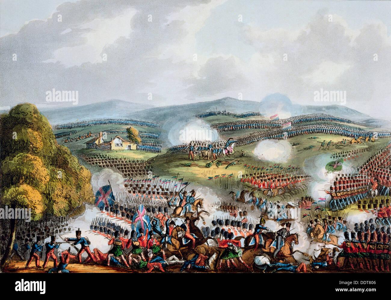 'Battle of Quatre Bras, June 16th 1815'. Artist: Thomas Sutherland - Stock Image