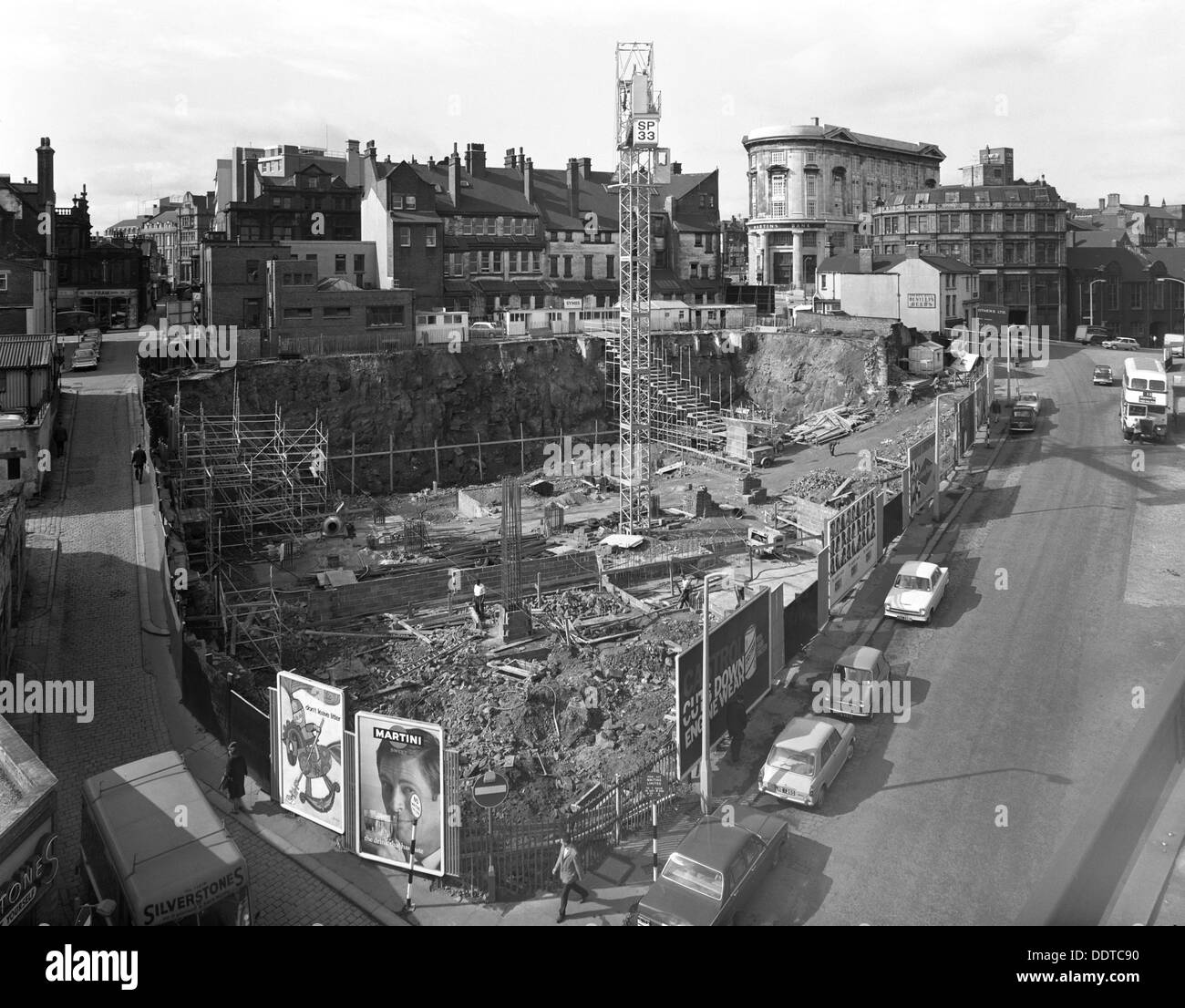 Commercial development on Campo Lane, Sheffield, South Yorkshire, 1967.  Artist: Michael Walters Stock Photo