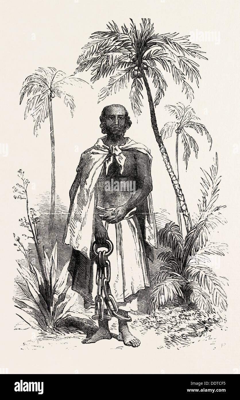 GONGALEGODA BANDA, THE KANDIAN PRETENDER, KANDY SRI LANKA, WANSAPURNA DEWAGE DAVID, 1851 engraving - Stock Image