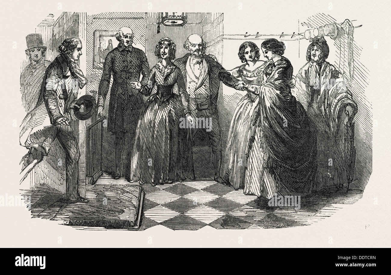 FRED HOLDERSWORTH; OR, LOVE AND PRIDE; BY THOMAS MILLER, 1851 engraving - Stock Image
