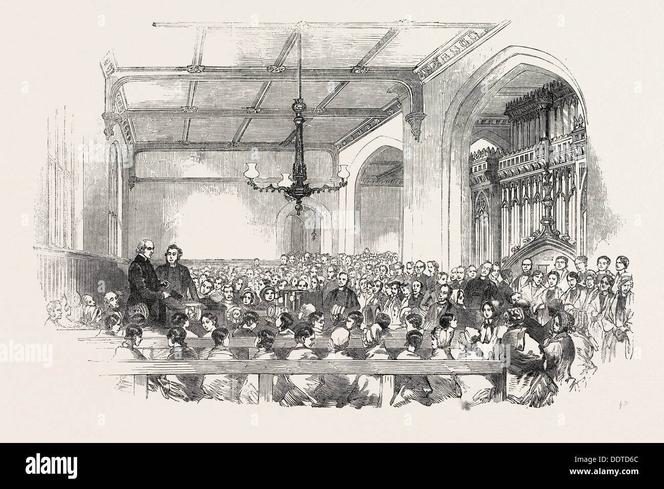 SCHOOL FOR THE INDIGENT BLIND, EXAMINATION OF THE PUPILS, 1851 engraving - Stock Image