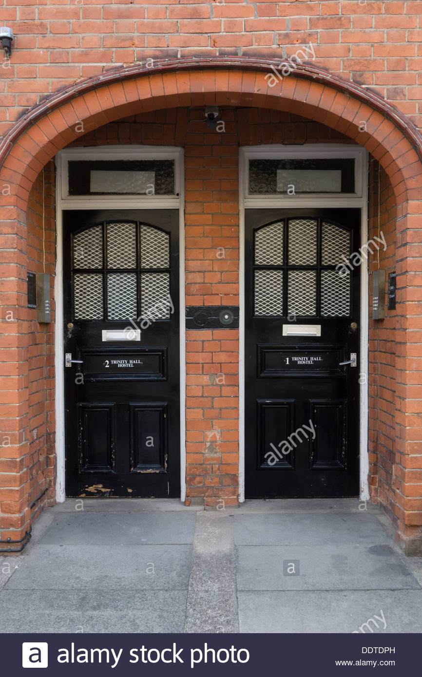 Twin doors to student hostel accommodation at Trinity Hall Cambridge & Twin doors to student hostel accommodation at Trinity Hall ...