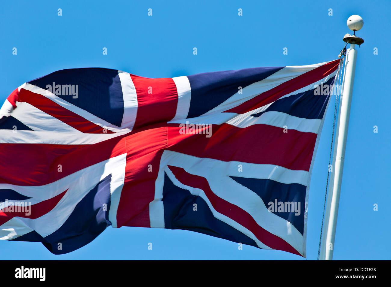 British Flag on Flagpole - Stock Image