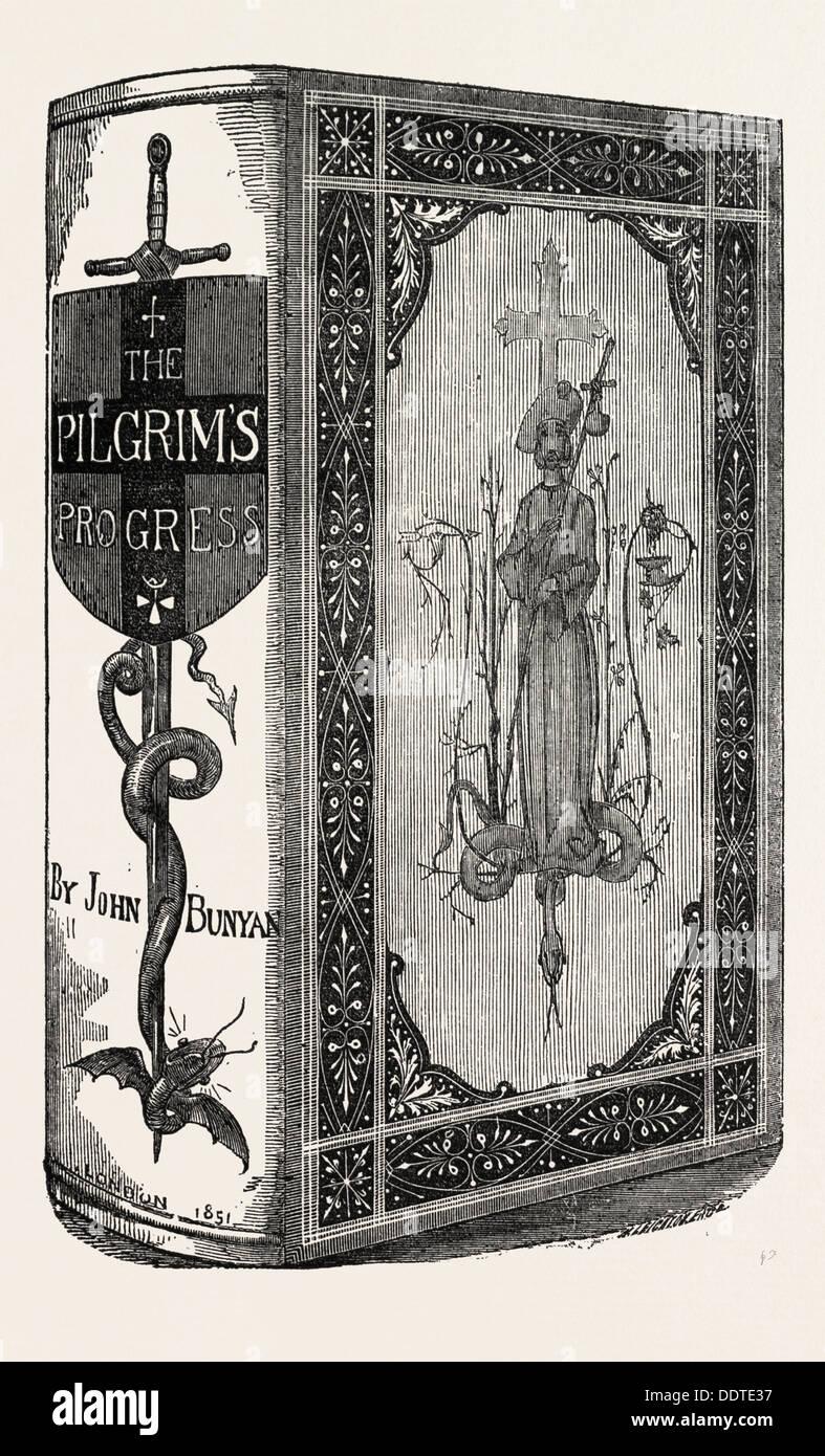 BUNYAN'S PILGRIM'S PROGRESS BY J. AND J. LEIGHTON, 1851 engraving - Stock Image