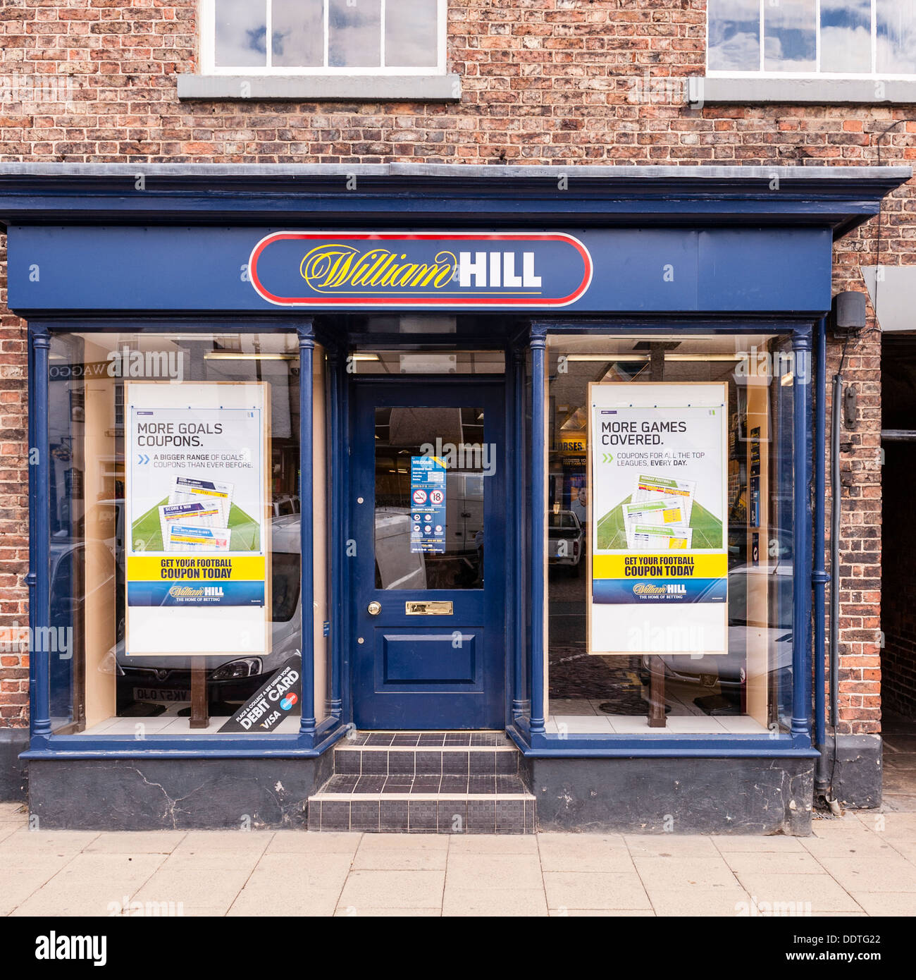 The William Hill bookies betting shop in Bedale , North Yorkshire, England, Britain, Uk - Stock Image
