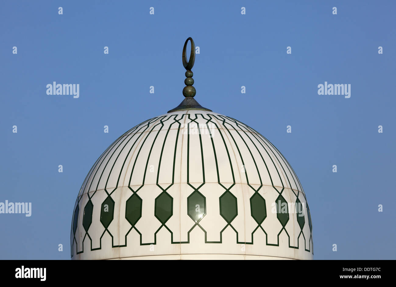 Cupola of the King Fahad mosque in Gibraltar - Stock Image