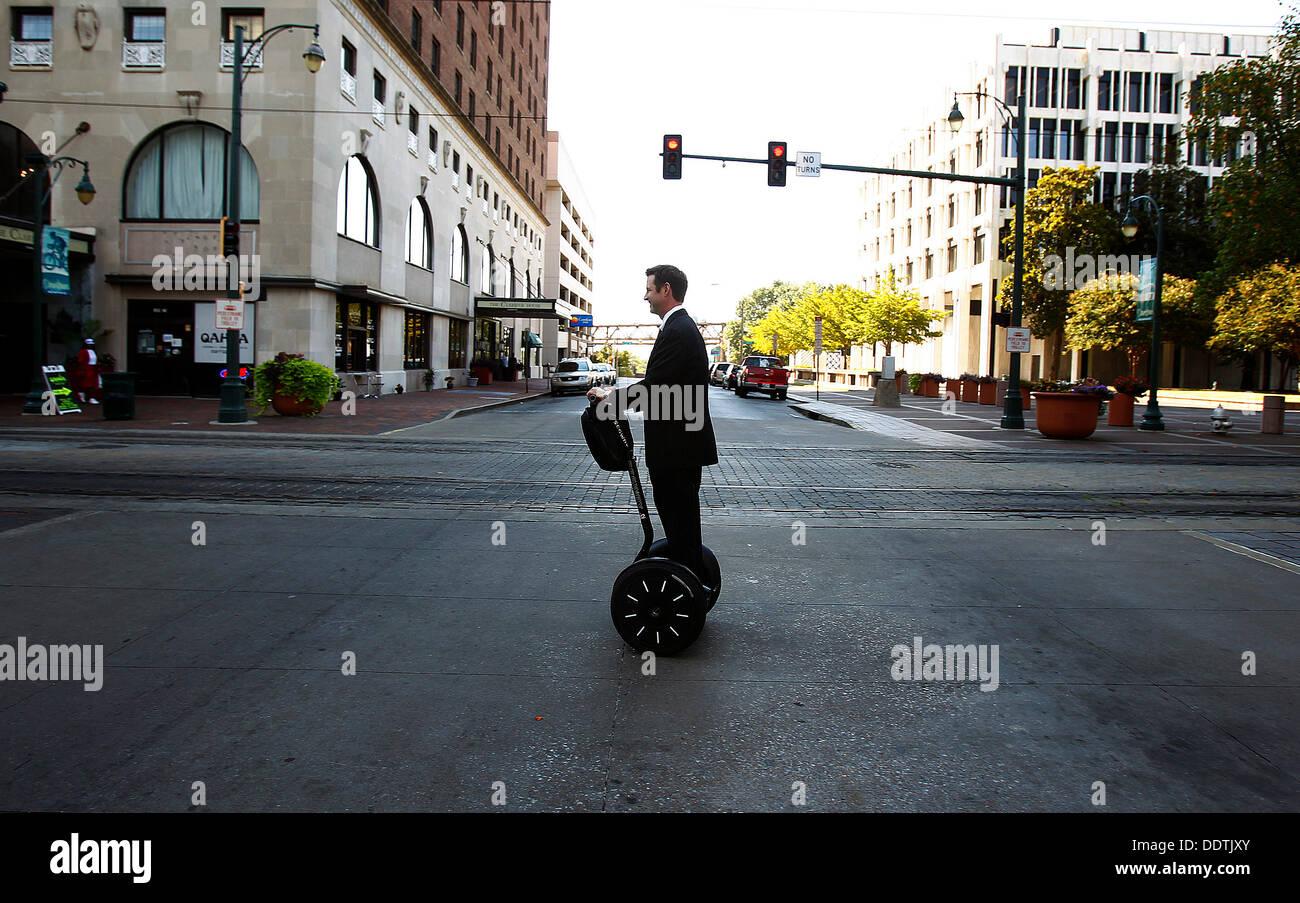 Sept. 5, 2013 - Memphis, Tenn, U.S. - September 5, 2013 - Downtown Memphis Commission president Paul Morris leaves Stock Photo