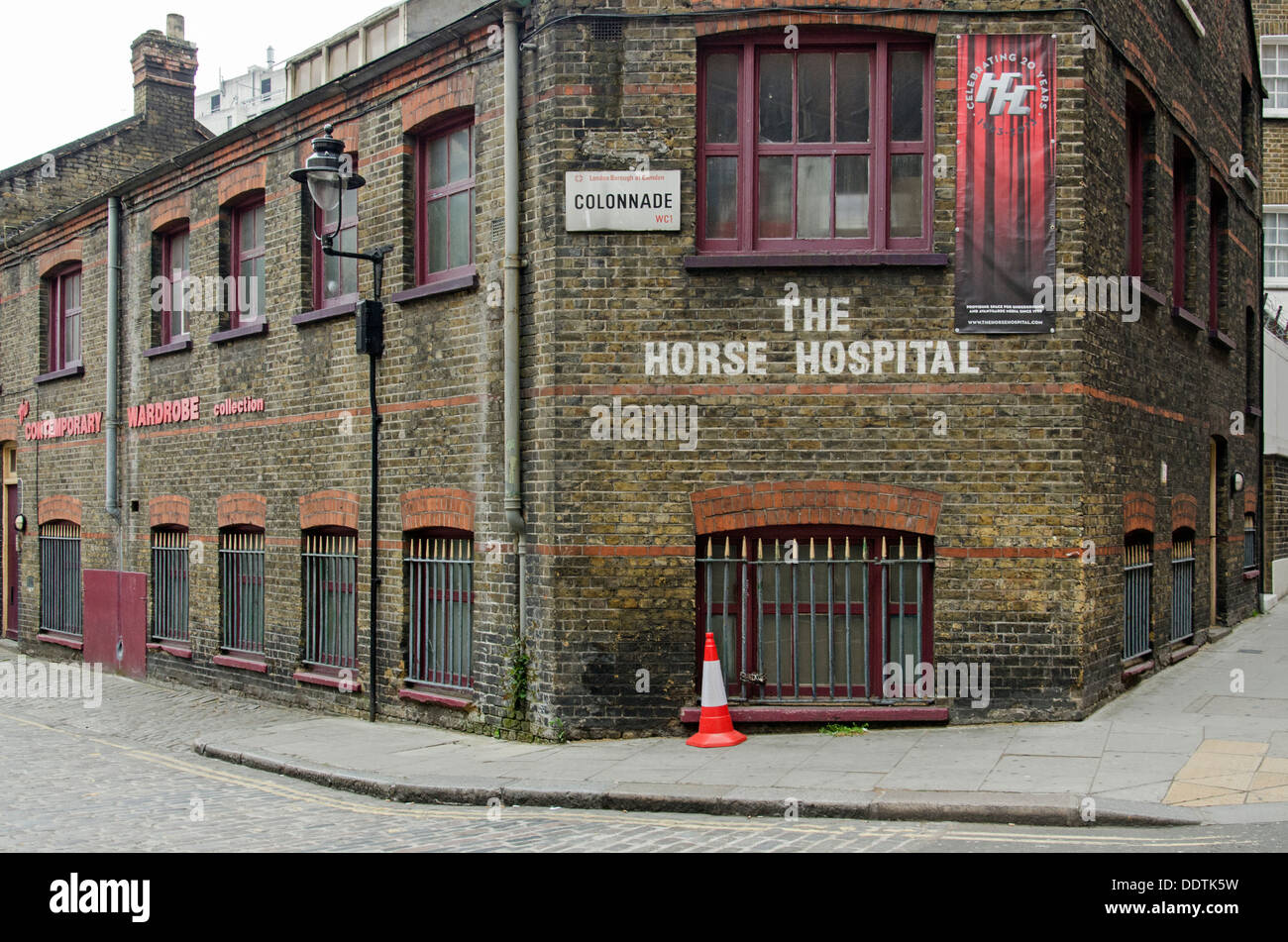 Once home to sick and injured horses, The Horse Hospital is now an avantgarde arts venue located in Bloomsbury, London. - Stock Image