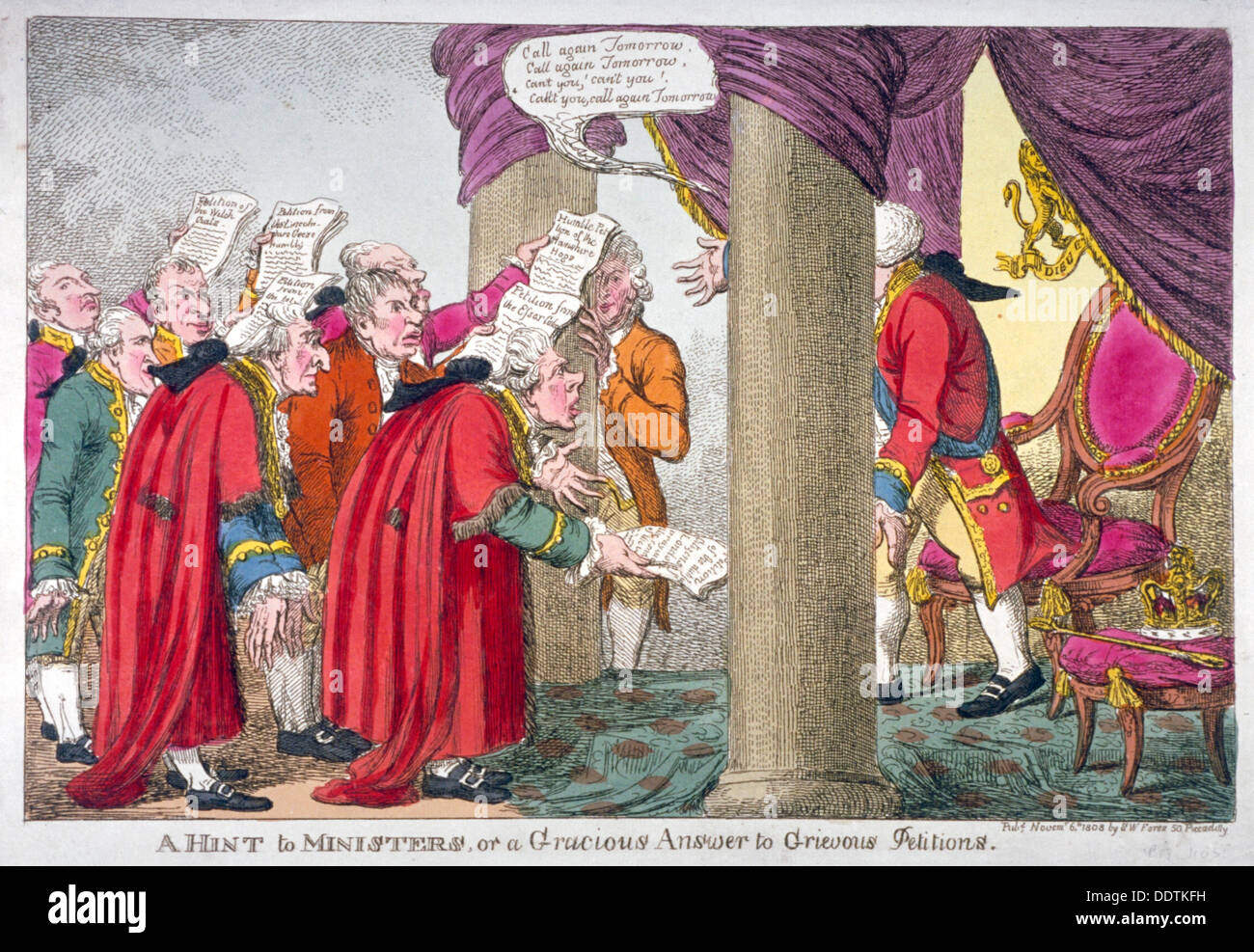 Petitioners before George III                                    Artist: Anon - Stock Image