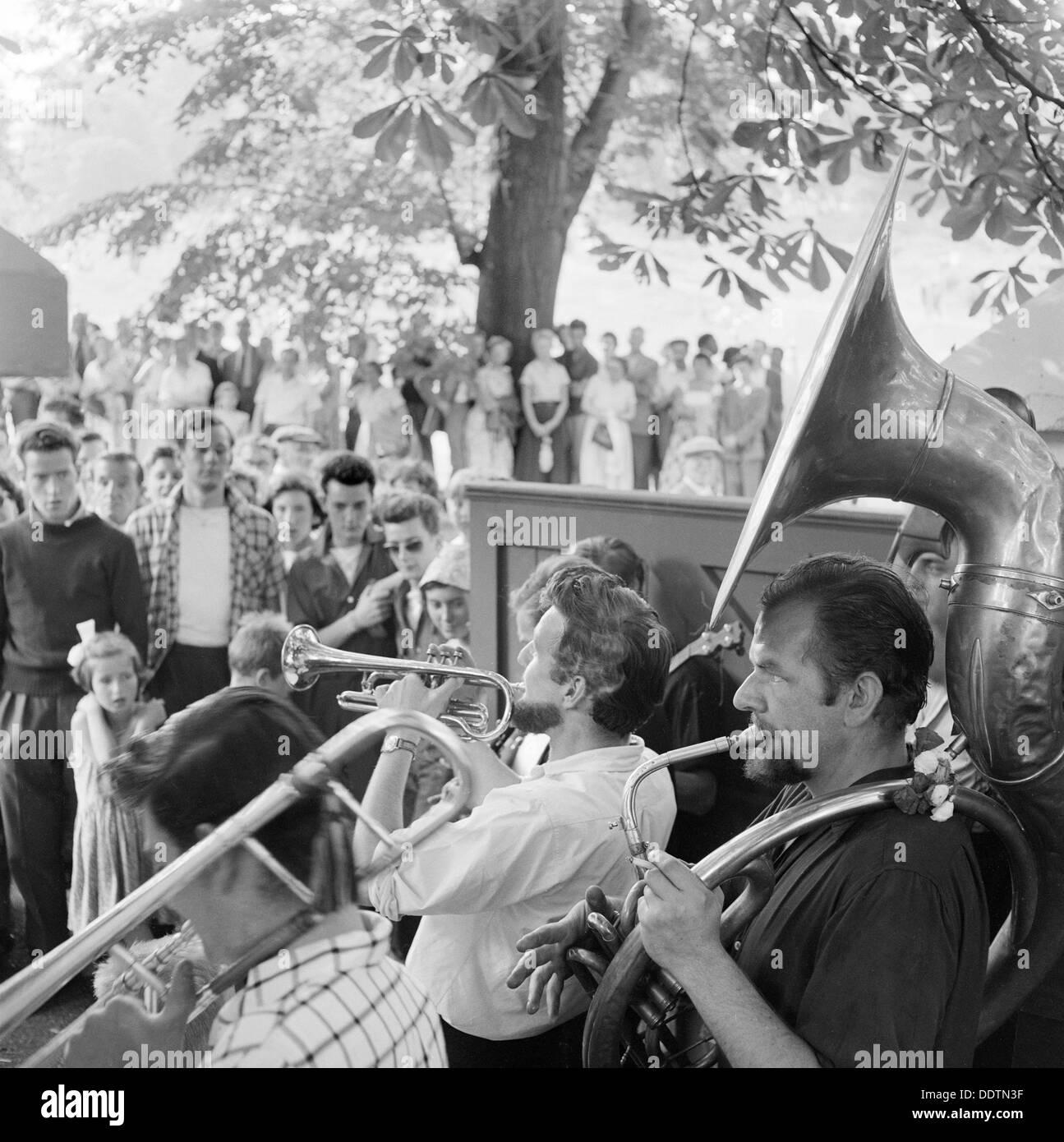Musicians, Hampstead, London, 1957-1962. Artist: John Gay - Stock Image