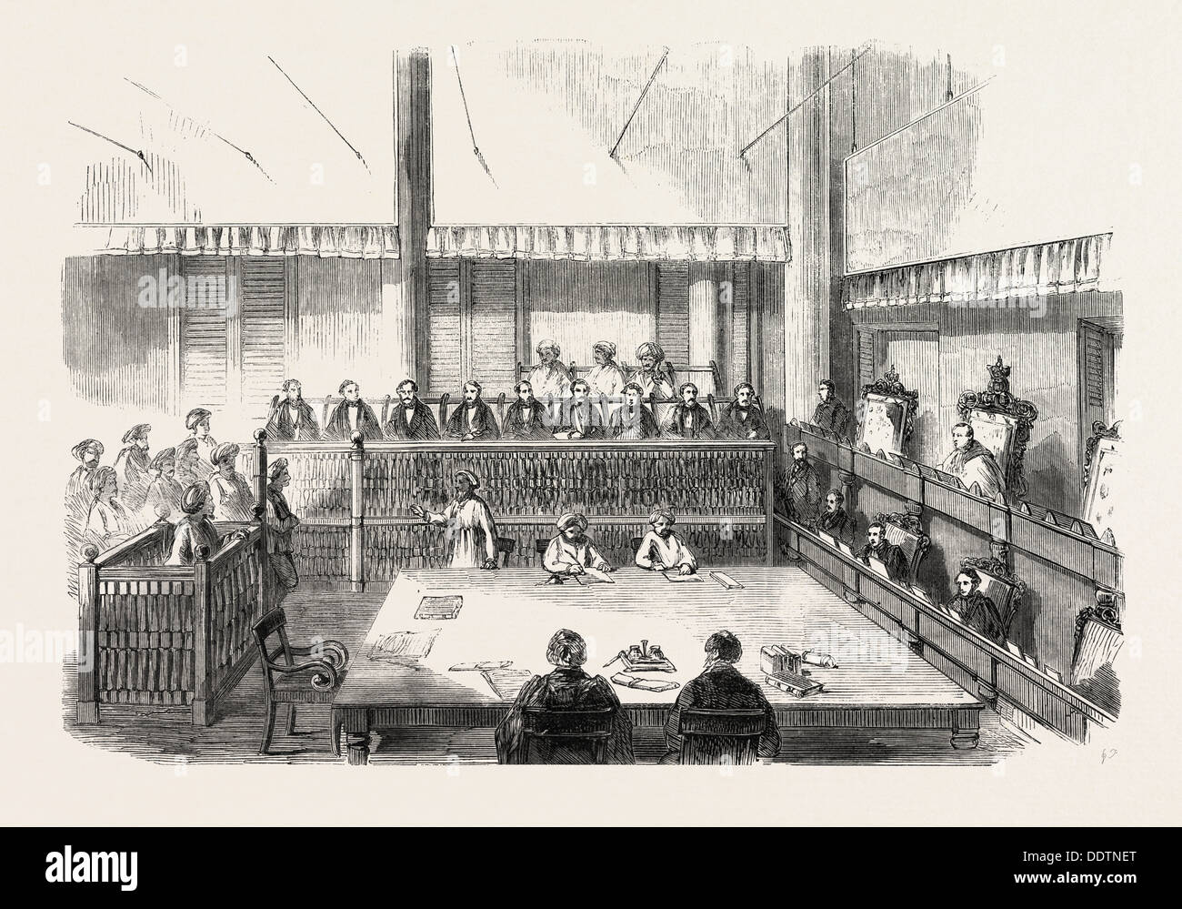 THE SUPREME COURT OF MADRAS, 1860 engraving - Stock Image