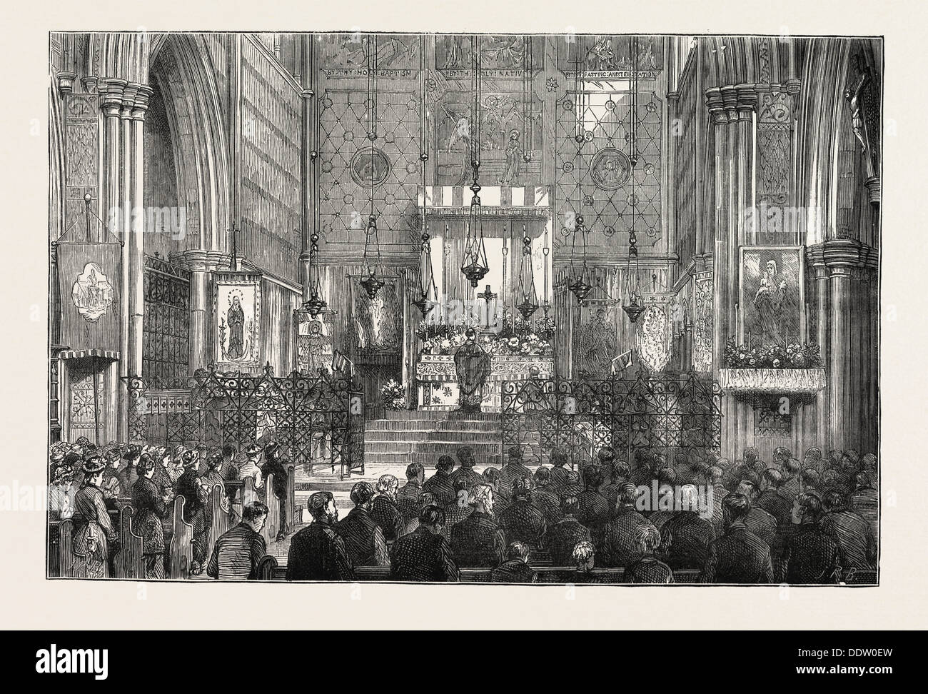 EASTERTIDE IN THE CHURCH OF ST. ALBANS, HOLBORN, LONDON, UK Stock Photo