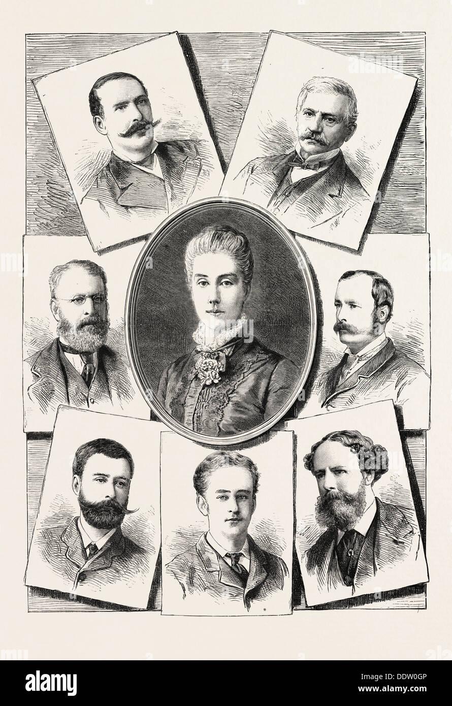 MRS. LAYARD LORD GEORGE MONTAGU (ATTACHE) - Stock Image