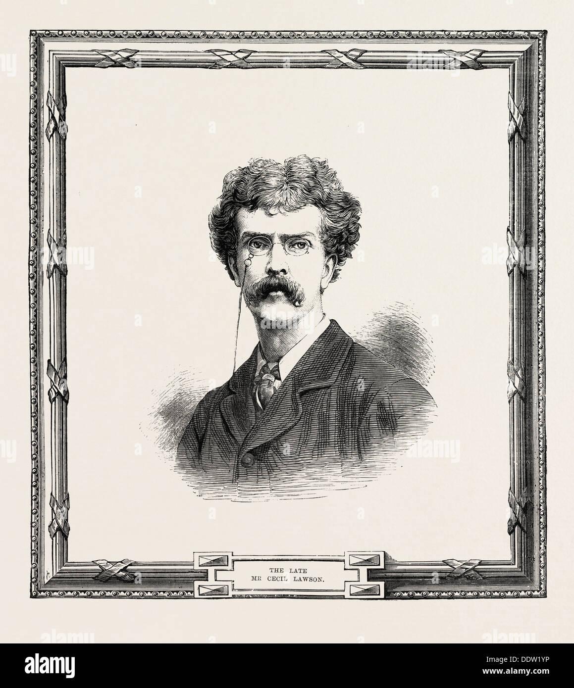 Cecil Gordon Lawson December 3, 1851 - June 10, 1882, was an English landscape painter, ENGRAVING 1882, UK, britain, british - Stock Image