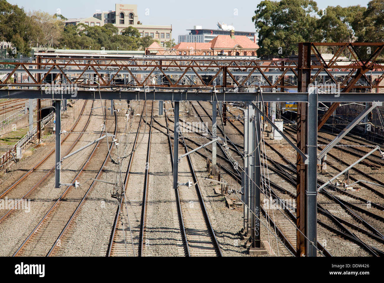 sydney rail network,australia, shot just outside sydney central station - Stock Image