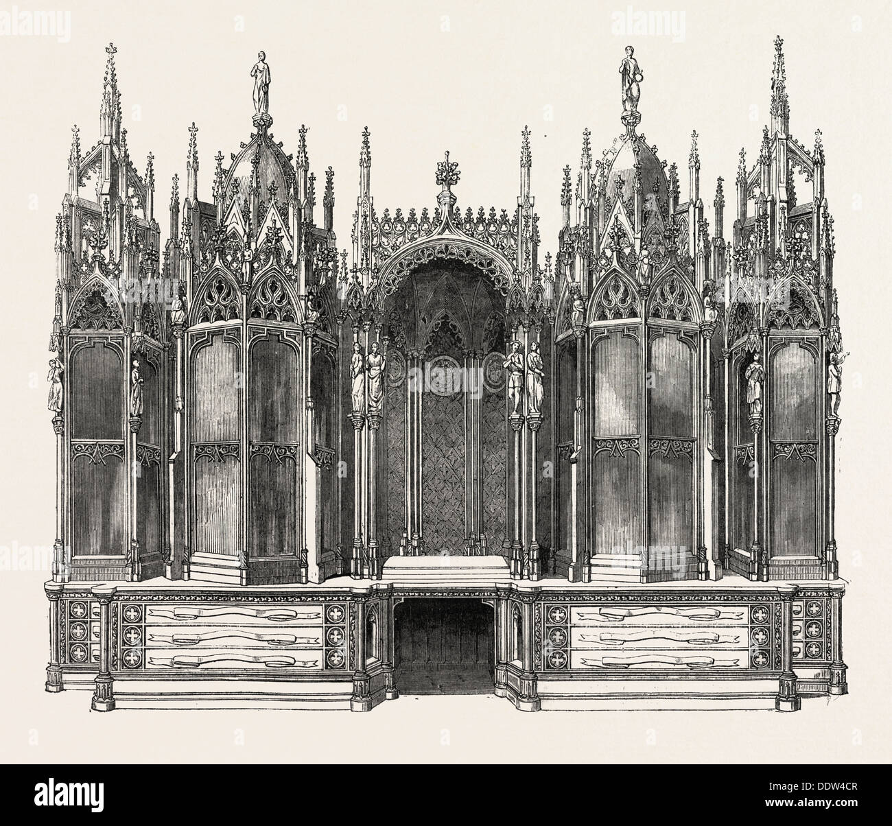 GOTHIC BOOKCASE, BY LEISTLER - Stock Image