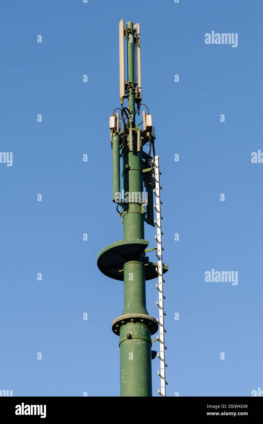 Cellular mobile phone mast and antennae - Stock Image