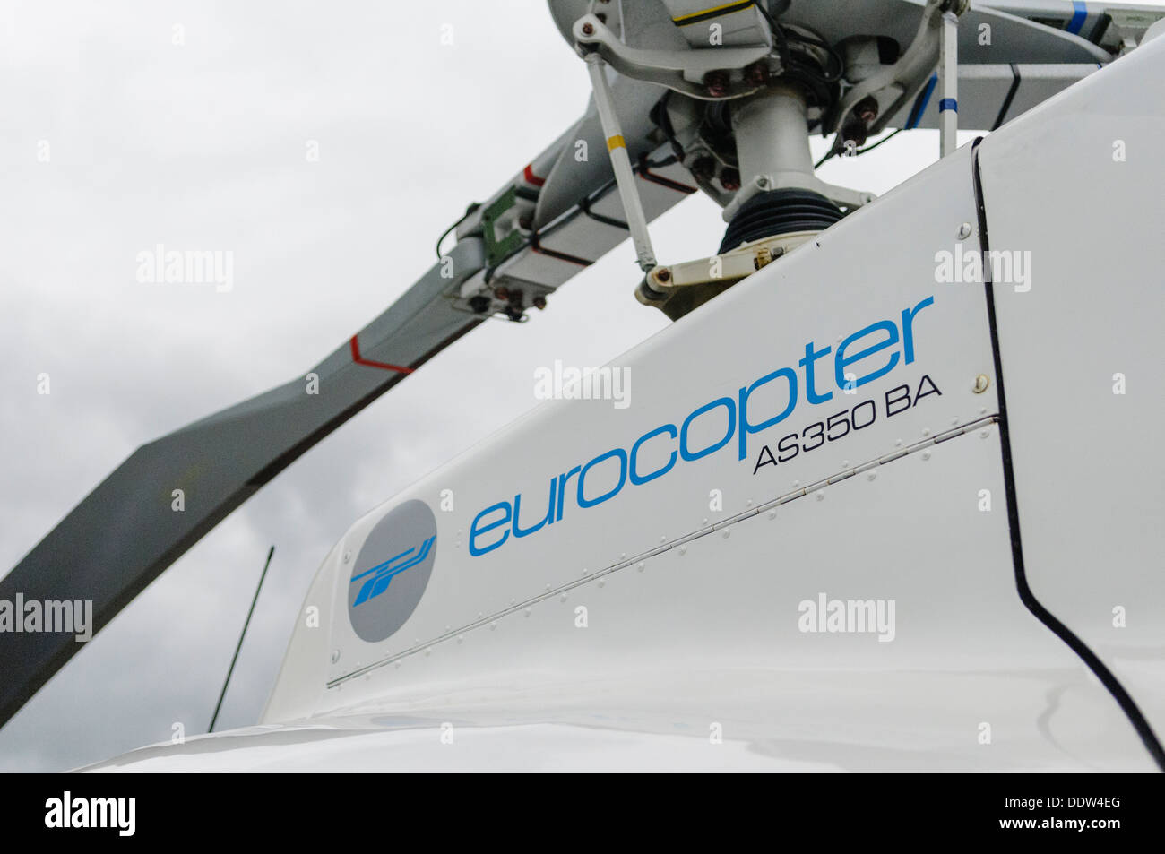Logo on the side of a Eurocopter AS350BA - Stock Image