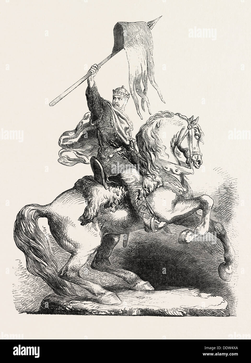 STATUE OF WILLIAM THE CONQUEROR, AT FALAISE - Stock Image
