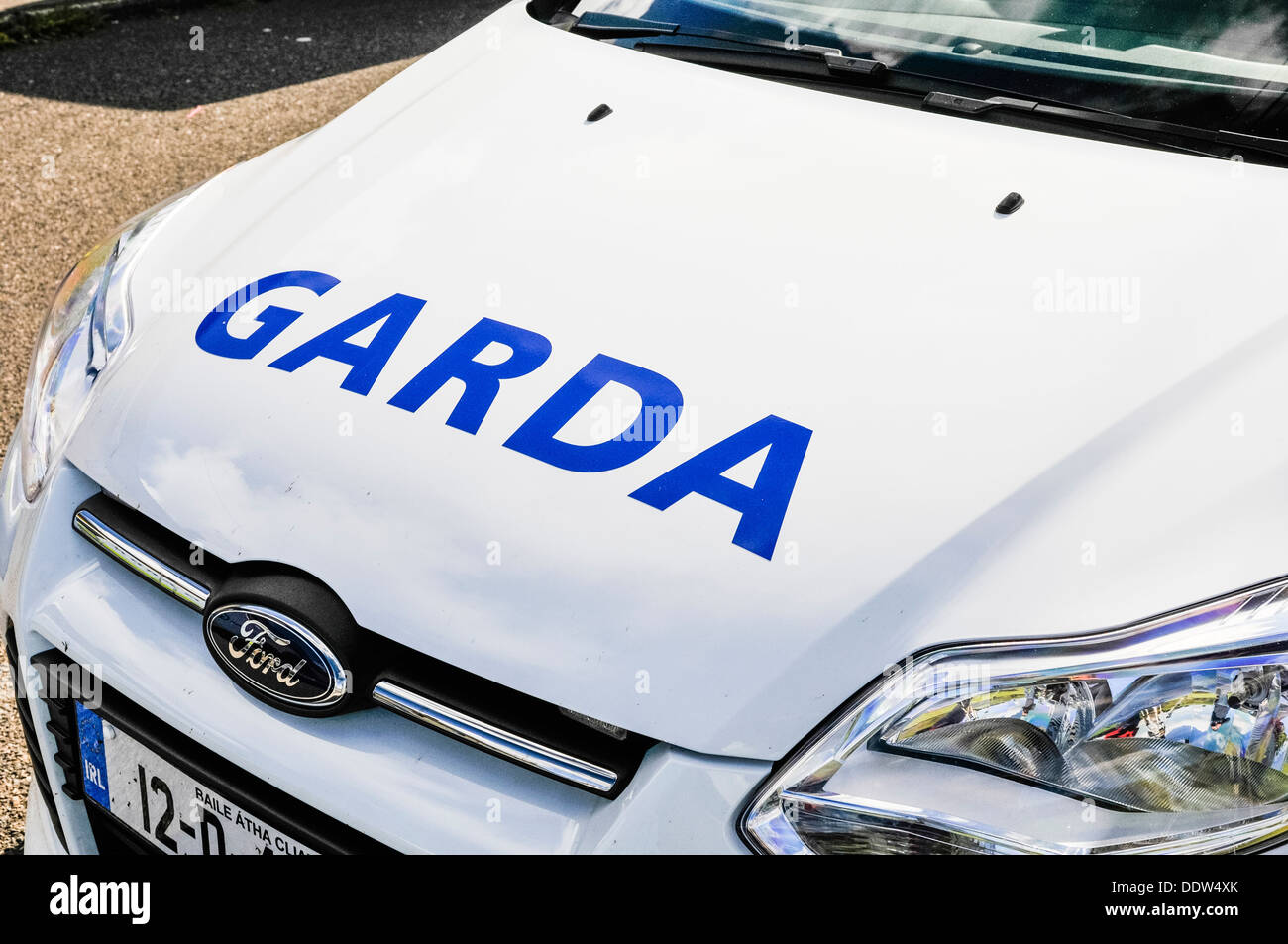 Garda Siochana Irish police car Stock Photo