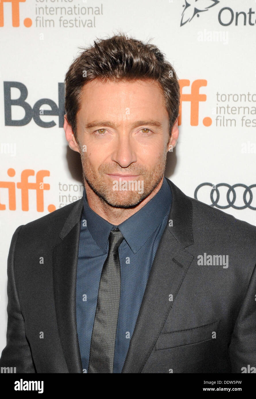 Toronto, Ontario, Canada. 6th Sep, 2013. Actor HUGH JACKMAN arrives at the 'Prisoners' Premiere during the 2013 Toronto International Film Festival held at The Elgin on September 6, 2013 in Toronto, Canada Credit:  Igor Vidyashev/ZUMAPRESS.com/Alamy Live News - Stock Image