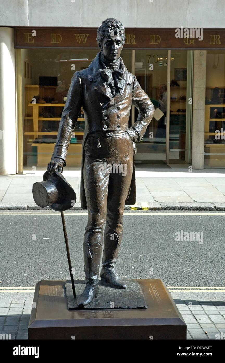 BEAU BROMWELL BRONZE IN JERMYN ST LONDON UK - Stock Image