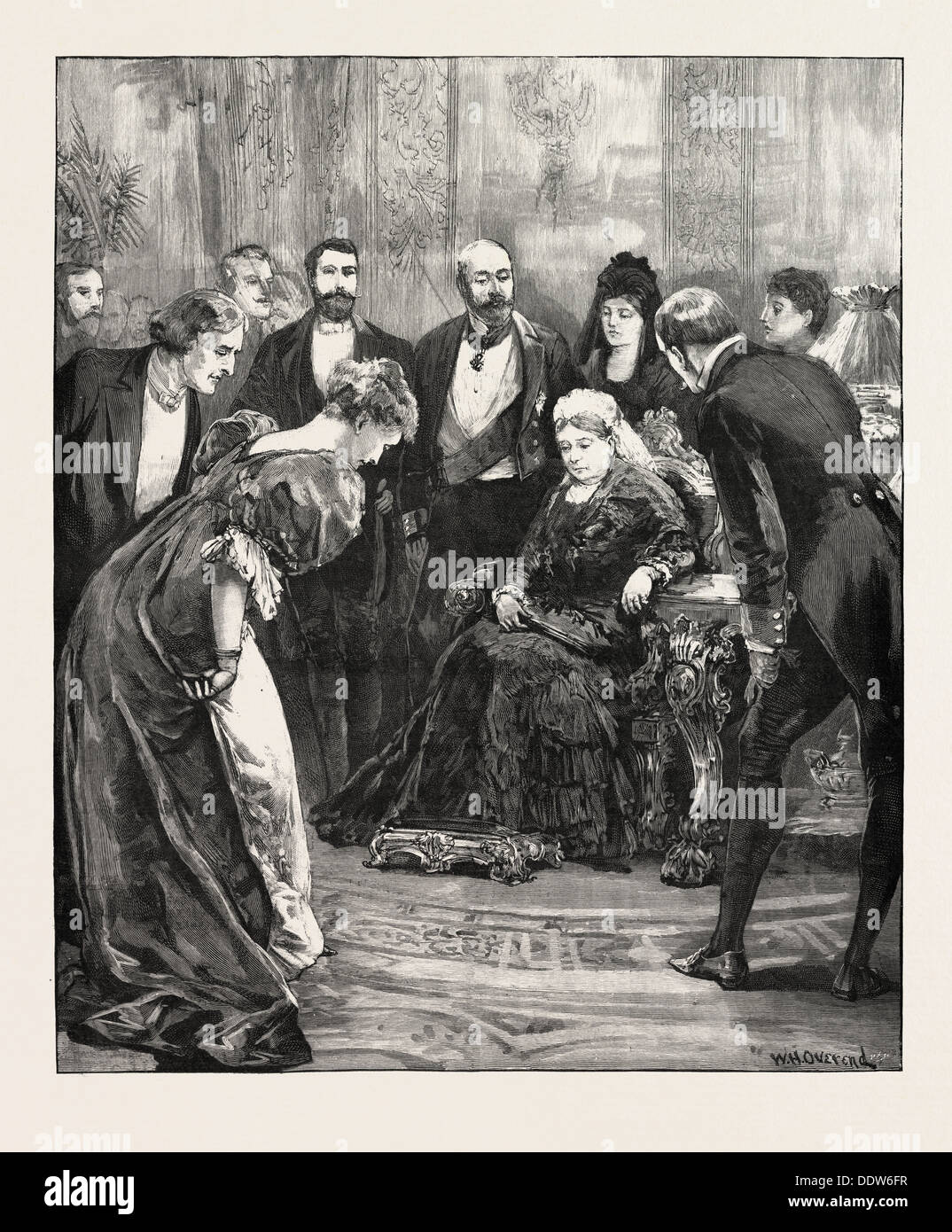 BECKET AT WINDSOR CASTLE, UK; Mr. Irving and Miss Ellen Terry had the honour of being presented to their Majesties the Queen - Stock Image